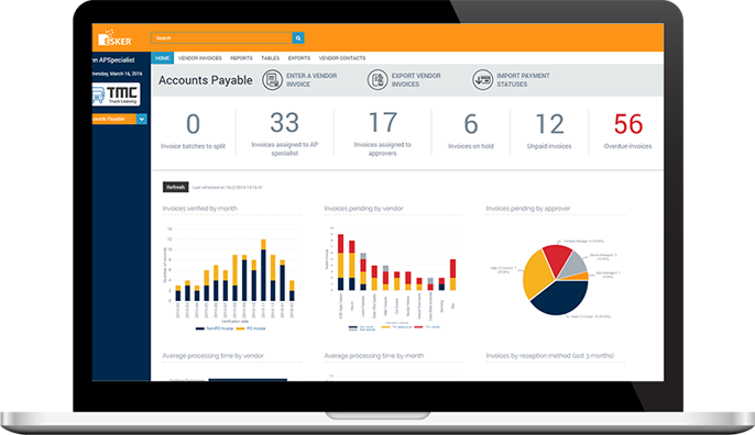 Accounts Payable Automation Dashboard