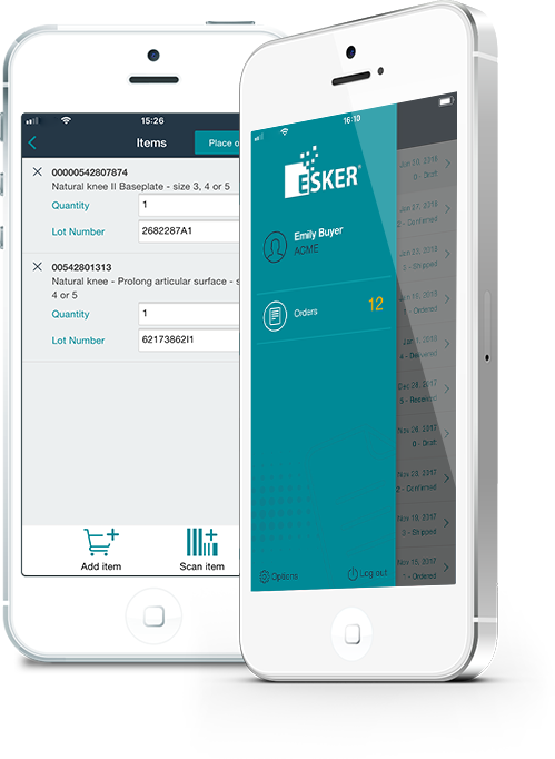 Esker's mobile ordering saves time and reduces errors